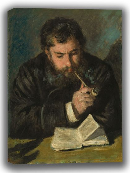 Renoir, Pierre Auguste: Claude Monet. Fine Art Canvas. Sizes: A4/A3/A2/A1 (003951)